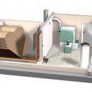 Doprema peleta fleksibilnim pužnim transportom sa stanicom za preuzimanje