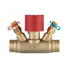 Ručni regulacijski ventil STRÖMAX MS,  ravna izvedba, s mjernim ventilima, vanjski navoj