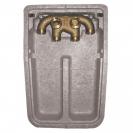 HERZ-ov razdjelnik s dvostrukim priključkom, za 2-cijevne sustave